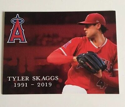 "Los Angeles Angels TYLER SKAGGS ""IN MEMORY OF"" Card Stadium Give Away"