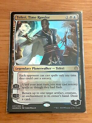 1x Foil Teferi, Time Raveler, War of the Spark, Professional Non Factory Cut MTG