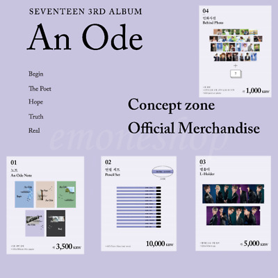 PRE-ORDER SEVENTEEN [ An Ode ] CONCEPT ZONE POP UP STORE OFFICIAL MD + Tracking#
