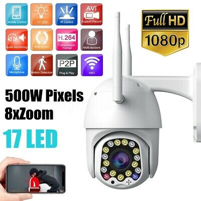 1080P WIFI IP Surveillance Camera 17 LED Wireless Outdoor CCTV HD Security Cam