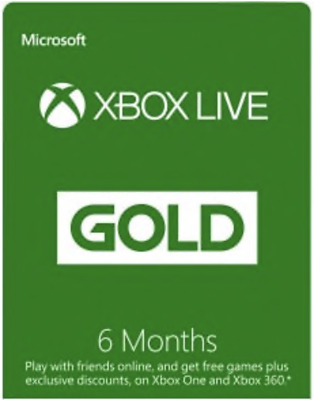 Microsoft X box Live Gold 6 Months Membership Global Code Fast message Delivery