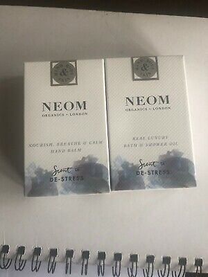 Neom Destress Hand Balm And Bath And Showeroil 10 Mls Each