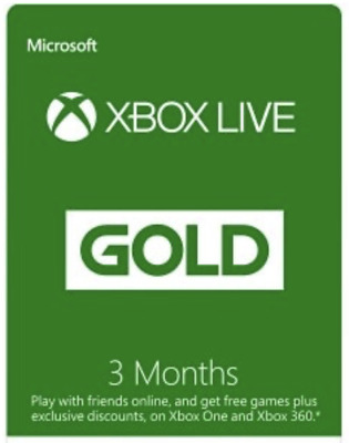 Microsoft X box Live Gold 3 Months Membership Global Code Fast message Delivery