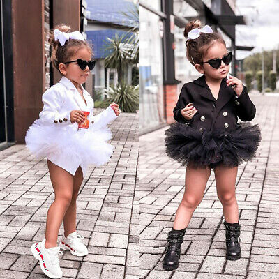 Toddler Baby Girl Kid Outfit  Ruffles Lace Dress Bottom Suit Skirt Party Clothes
