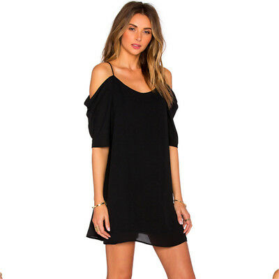 Fashion Sexy Womens Off Shoulder Beach Evening Party Short Mini Dress 6N