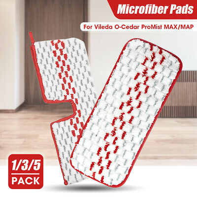 1/3/5x Spray Mop Replacement Pads Heads Microfiber Wet Dry Cleaning for Vileda
