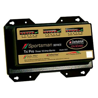 Dual Pro SS3 Sportman Series 30A 3-Bank Battery Charger