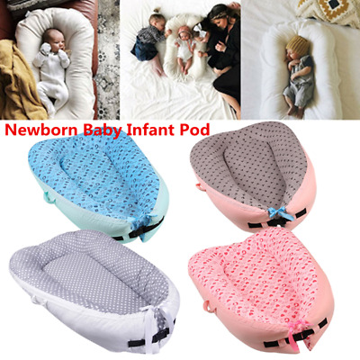 Newborn Baby Infant Pod Nest Reversible Cocoon Bed Sleep Cushion Sleepyhead Mat