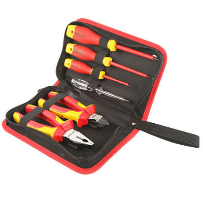 Insulated Hand Tool Set - 1000V Electrical Screwdrivers, Pliers & Voltage Tester