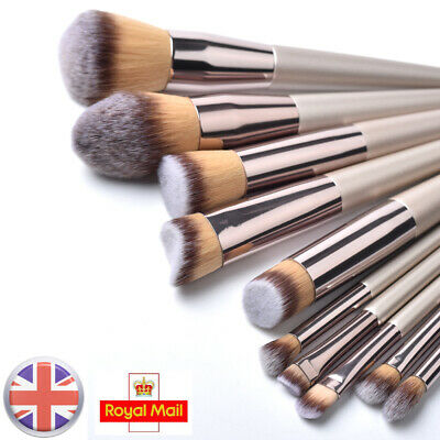 10pcs Make Up Brushes Kits Set Professional Blusher Powder Foundation Eyeshadow