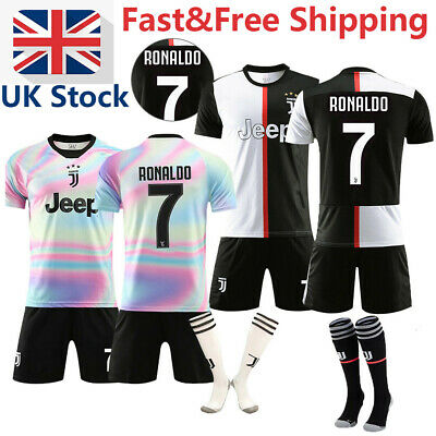 19/20 Kids Boys Football Full Kit Youth Jersey Strips Soccer Sports Outfit UK