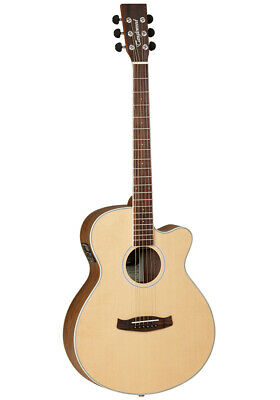 Tanglewood Discovery Super Folk Electro Acoustic Guitar + Gig Bag, DBT-SFCE-BW