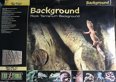 "Exo Terra Rock Terrarium Background 90x60 cm 36""x24"" Inch Cheapest On eBay"
