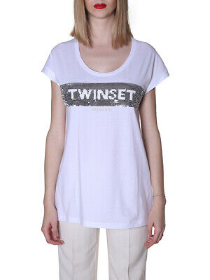 MO 187628 T-shirt twin set BIANCO P9 TWIN SET