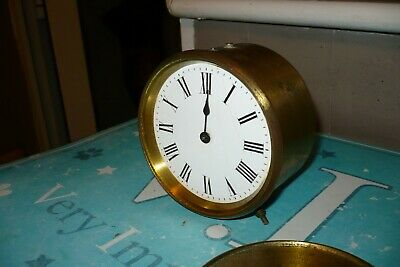 Antique French Brass Barrel Clock By R And Co Paris