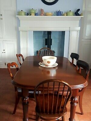 Victorian Mahogany Dining wind out Dining Table