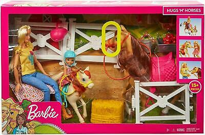 Barbie Doll & Chelsea & Horses and 15 pcs  Accessories kids toys playset bundle