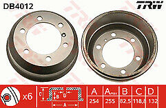 LDV Convoy 400 2.5 Diesel 96-06 Rear Brake Drum 254mm  x1