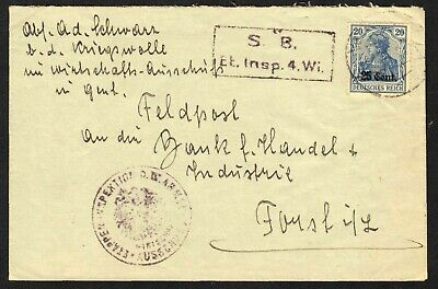 France N20 (SCV$100.00) on censored cover to Germany, 1916