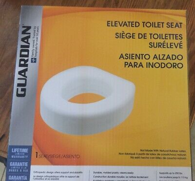 Medline Guardian Signature Elevated Toilet Seat G30250, Durable, Supports 250 lb