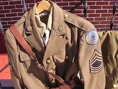 Vintage EARLY WW2 US ARMY 20th AAC Master SGT complt. UNIFORM SET -
