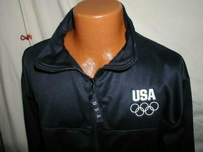 Mens XL USA Olympics Track Jacket coat Zip up Athletic Officially Licensed