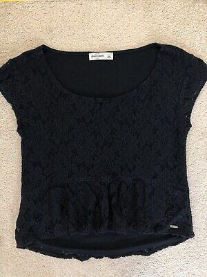 Abercrombie & Fitch Kids Girl's Navy Lace Top Size Large Age 12 - 14 Years