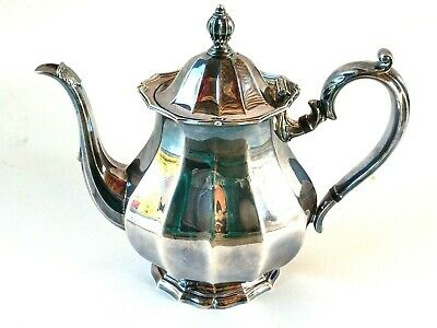Silver Tea Pot Webster Wilcox English Flutes International Silver Co Teapot 8002