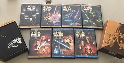 Star Wars The Complete Saga DVD set Episodes 1-6...I-VI...9 Disc Set..Fullscreen