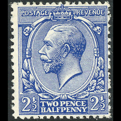 GREAT BRITAIN 1912-24 2.5d Blue. Royal Cypher. SG 372*. MLH. (BH635)
