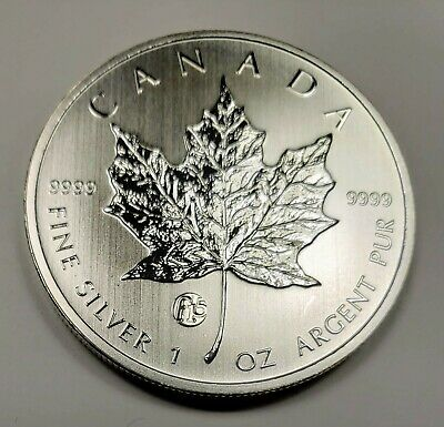 2013 Canada $5.00 1 oz Silver Maple Leaf .9999 Fabulous 15 Privy Mark