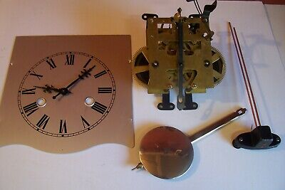 vintage 31 day wall clock movement complete...working order....spares...used..