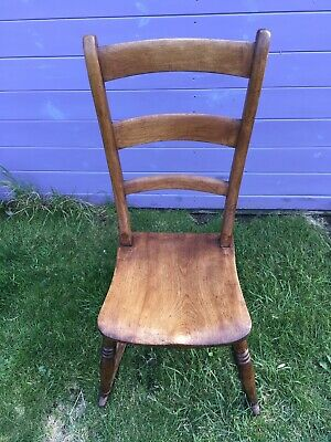 Victorian 19thC Stamped Hazel Oxford Beech And Elm Nursing Childs Rocking Chair