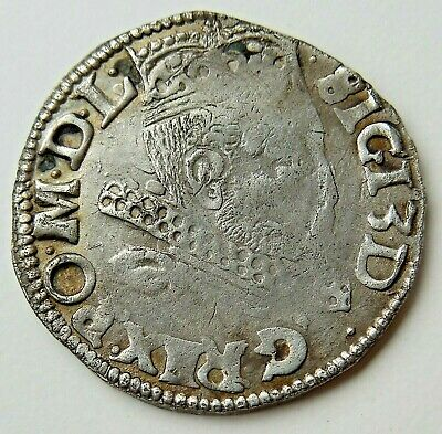 1598 Medieval King Hammered Silver Coin Rare!