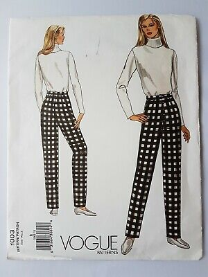 Vogue Sewing Pattern 1003 Fitting Shell Toile Size 8 Ladies Trousers UNCUT