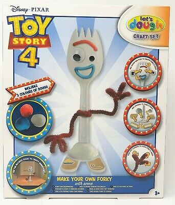 Toy Story 4 Make Your Own Forky the Pizza Planet Spork Dough PlayDoh Craft Set