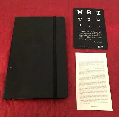 "Moleskine Large Ruled Soft cover Notebook, Black 5.25"" X 8.25"" Writer Poet New"