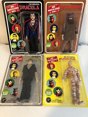 Lot Of 4 Figures Wolfman Dracula Mummy Frankenstein Mad Monster Series 1970s