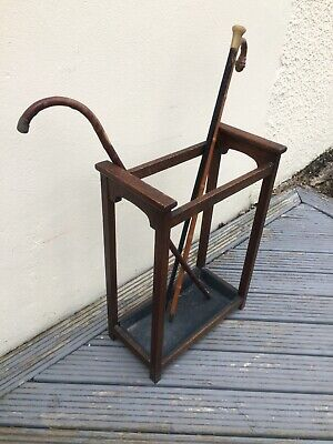 Solid Oak Arts And Crafts Style Stickstand Or Umbrella Stand