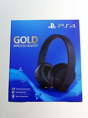 AURICULARES SONY PS4 GOLD WIRELESS HEADSET PlayStation 7.1 Virtual Surround
