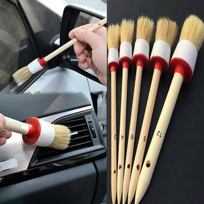 5 X Soft Bristle Brush for SUV Dash Board Center Console Cleaning Tool