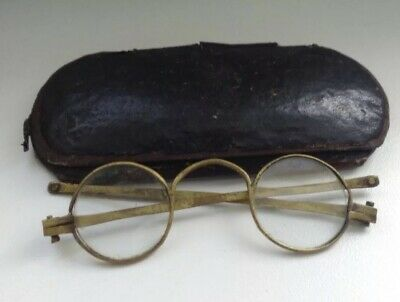 Sehr Seltene Antike Brille Um 1823 Very Rare Antique Spectacles