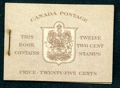Weeda Canada BK33a VF War issue booklet, Type I, 6c rate, English covers CV $67+