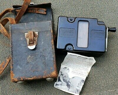 "Vintage JAMES G. BIDDLE CO. ""MEGGER"" 500 Volt Insulation Tester W/Case"