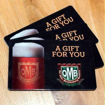 Olde Mecklenburg Brewery Charlotte, NC Gift Cards (4) $70 Total Value Free Ship!