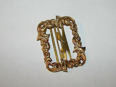 ORNATE ANTIQUE EDWARDIAN VICTORIAN REPOUSSE 14K GOLD BELT SASH RIBBON BUCKLE 16g