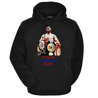 NEW Tyson Fury Gypsy King Boxing The Furious One 1988 Vintage T-Shirt Black Men