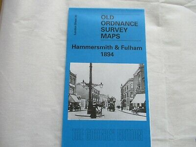 old ordnance survey map (reprint)  -  Hammersmith & Fulham 1894