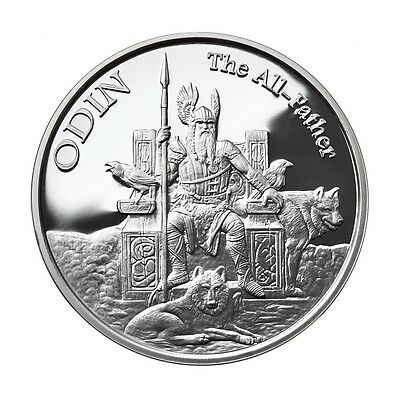 1 Oz Silver Coin Odin-Valkyrie *Norse God Series #1 In Series Proof-#Coa Viking