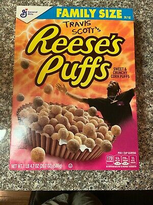 Limited Travis Scott X Reeses Puffs Cereal - Family Sized